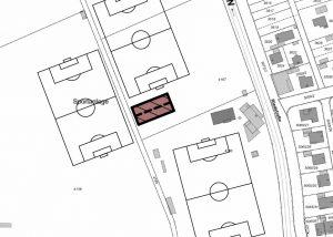 Ausschnitt Situationsplan Projekt TSV Freilufthalle